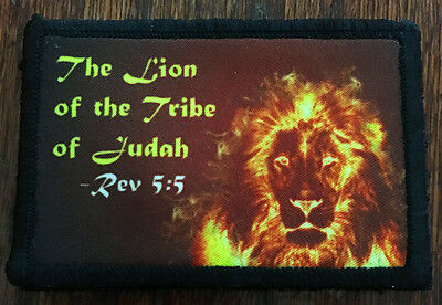Revelation 5:5 Lion of the Tribe of Judah Morale Patch Tactical Military Army