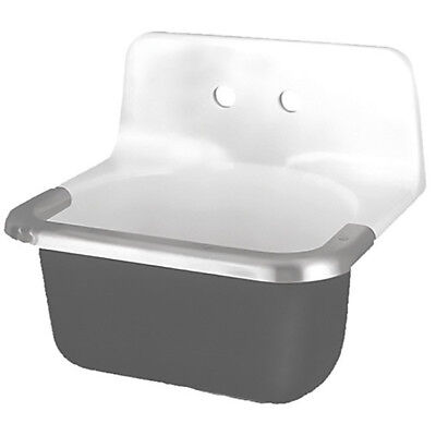 AMERICAN STANDARD 7695008.020 Utility Sink, Enameled Cast Iron, Wall