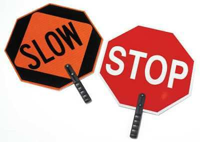 Paddle Sign,Stop/Slow,18 In. H