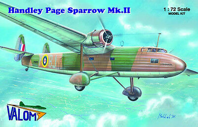 Valom 1/72 Plastic Model Kit Handley Page Sparrow Mkii Val72058