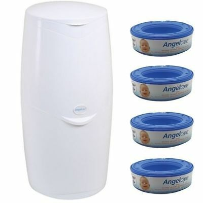 Angelcare Starter Kit Nappy Disposal System with 4 Refill Cassettes