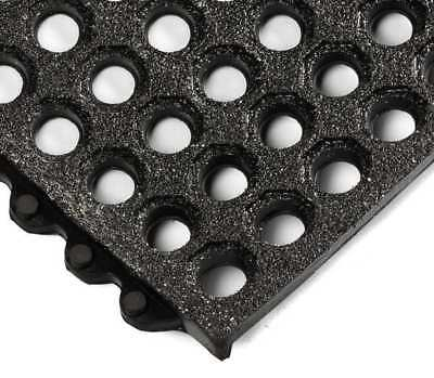 Interlock Drainage Mat,Black,3 ft.x3 ft. WEARWELL 576