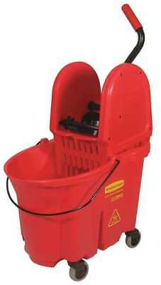 RUBBERMAID FG757888RED Mop Bucket and Wringer,8.75 gal.,Red