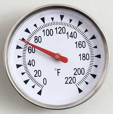 Bimetal Thermom,2 In Dial,0 to 220F GENERAL PT2020G-220