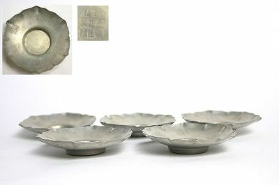 Chinese old tin tea ceremony PEWTER