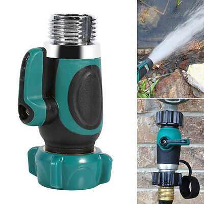 1 Way Hose Connector Shut-off Valve Water Pipe Faucet Joint Adapter For Garden