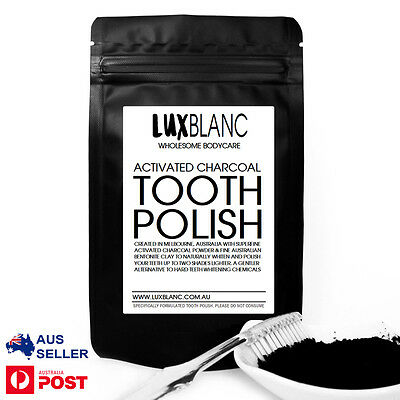 Activated Charcoal Tooth Polish Powder 60g | Pure Option to Whitening Toothpaste