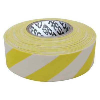 Flagging Tape,Wh/Yllw,300 ft x 1-3/8 In PRESCO PRODUCTS CO SWY-200