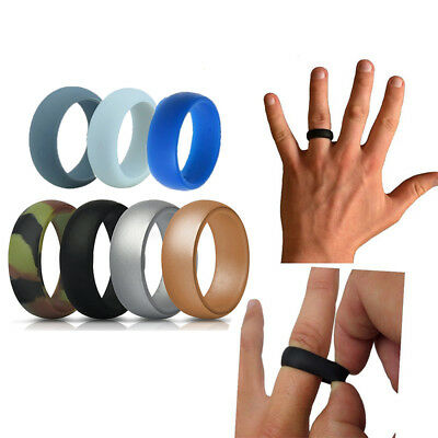 Silicone Wedding Ring Men Women Rubber Band Comfortable Elegant Flexible 7 Pcs