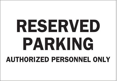 Parking Sign,10 x 14In,BK/WHT,Text
