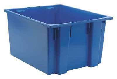 Nest and Stack Container, 23-1/2 in, Blue QUANTUM STORAGE SYSTEMS SNT230BL