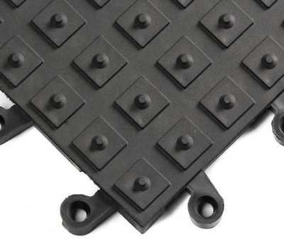 "1 ft. 6"" Interlocking Antifatigue Mat, Black ,Wearwell, 552"