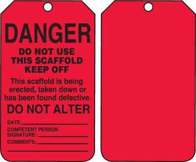 ACCUFORM SIGNS TSS101CTP Danger Tag, 5-3/4 x 3-1/4, PK25