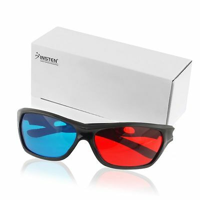 1 Pair Red and Blue Anaglyph Glasses with Frame Apply to Watch 3D movie 3D TV PC