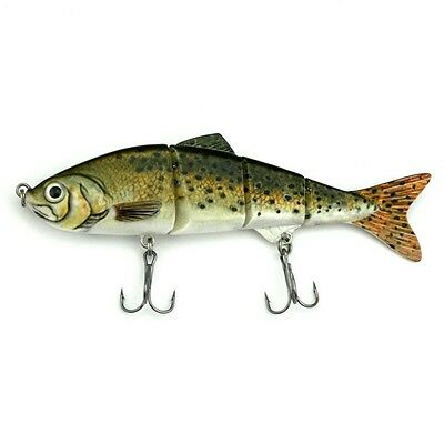 4 Section Multi Jointed Fishing Lures 3D Eyes Crank Baits Bass Swimbait 11.5cm