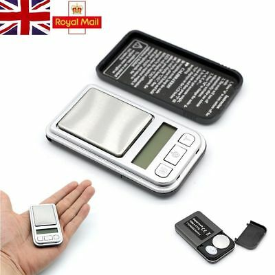 Mini Pocket Scales 0.01g 200g Weighing Electronic Digital Jewelry Gold UK Stock