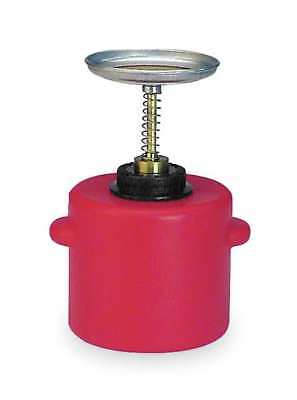 Plunger Can,1/2 Gal.,Polyethylene,Red EAGLE P-712