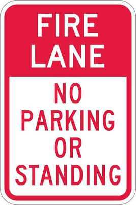 Sign,Fire Lane No Parking,18 x12 In LYLE T1-1054-HI_12x18