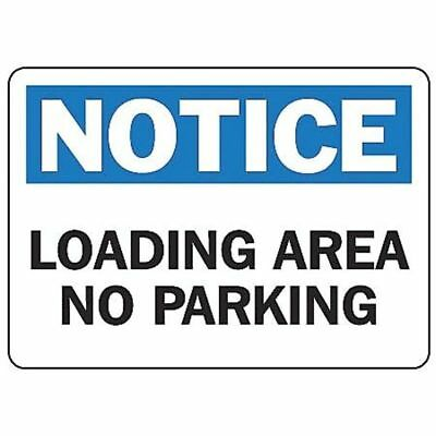 ACCUFORM SIGNS MVHR829VS Notice Sign, 7 x 10In, BL and BK/WHT, Text