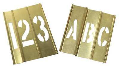 20Y518 Stencil Kit 46 Piece 1 In Brass