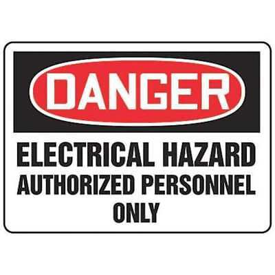 ACCUFORM SIGNS MELC275VS Danger Sign,7 x 10In,R and BK/WHT,ENG
