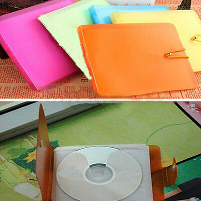 1Pc CD DVD Disc Double 12Pcs Sleeves Holder Pack Clear Storage Bag Cover Loud