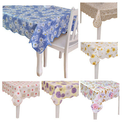 PVC Tablecloth Waterproof Europe Rural Style Oilproof Waterproof Tablecloth S5D7