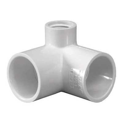"3/4"" x 1/2"" Socket PVC 90 Deg. Elbow FNPT Side Outlet LASCO 414101"