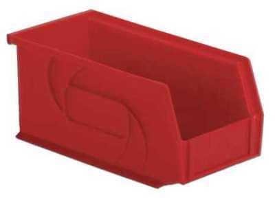 """Red Hang and Stack Bin, 10-7/8""""L x 5-1/2""""W x 5""""H LEWISBINS PB105-5 Red"""