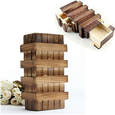 Magic Chinese Puzzle Box Wooden Secret Compartment Intelligence Brain Xmas Moden