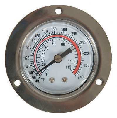 Analog Panel Mt Thermometer,40 to 240F