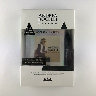 Andrea Bocelli - Cinema (Access All Areas Edition) (CD, 2015) *New & Sealed*
