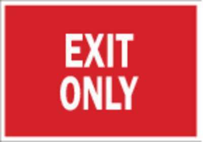 BRADY 80281 Exit Sign,7 x 10In,R//WHT,Exit,ENG,Text