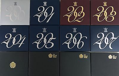 Royal Mint Proof Coin Year Sets 2000 To 2011 Box Only  Choose Your Box