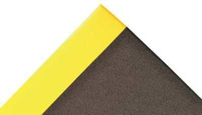 NOTRAX 825S0035BY Static Dissipativ Mat,Blk,YllwBrdr,3x5ft