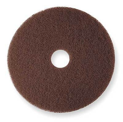 3M 7100 Stripping Pad, 17 In, Brown, PK 5