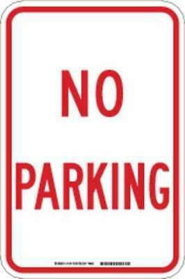Sign,No Parking,18 x 12 In.