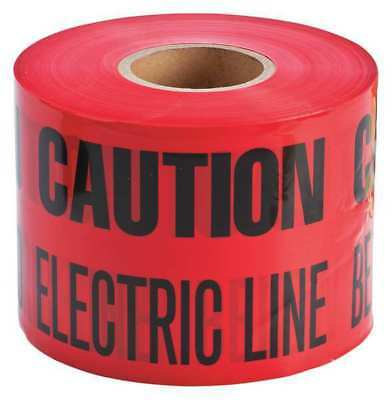 Red/Black Underground Warning Tape, Brady, 91296