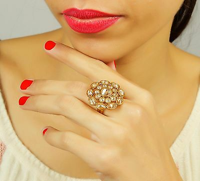 RN-727 Ethnic Bollywood Indian Adjustable Rings Bollywood Party Wear Jewelry
