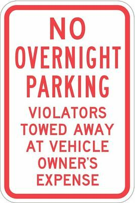 Sign,No Overnight Parking ,18 x12 In LYLE T1-1055-HI_12x18