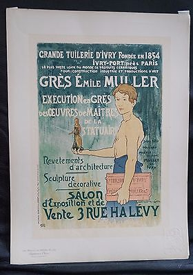 Plakate - Poster - Charpentier: Grande Tuilerie D'Ivry . Orig. Farblithographie