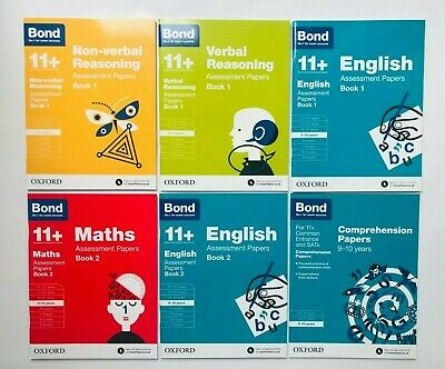 Bond 11+ Assessment Papers Maths English (Non) Verbal Skills 5-6 Years Pack of 4