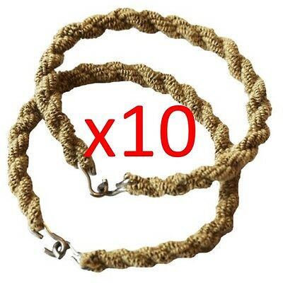 10 Pairs Army Trouser Twisters Mtp Coyote Twists Twisties Hiking Cadet Soldier