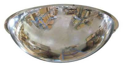 2GVU3 Full Dome Mirror, 36In., Scratch Res Acryl