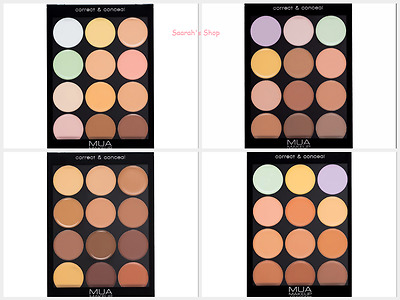 MUA Professional Correct & Conceal Palette in Light, Cool, Warm & Dark Fast Post
