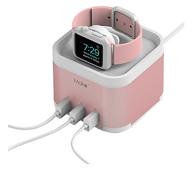Watch Stand Charging Dock Station for Apple Watch/Fitbit Blaze/Smartphone Pink