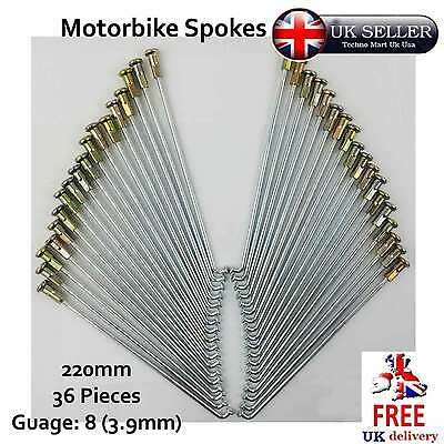 Motorbike Spokes 220mm Nipple Cap Gauge 8 SET Motorcycle Wheel 5pcs 36pcs