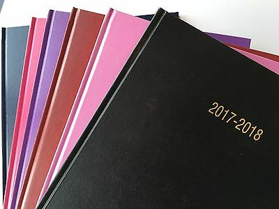 2017-2018 Academic Year Diaries 12 Month A5/A4 Day a Page/Week to View Hardback