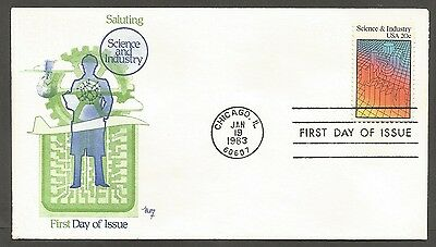 Us Fdc 1983 Science & Industry 20C Marg Cachet First Day Of Issue Cover