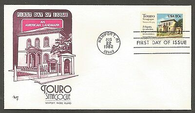 Us Fdc 1982 Touro Synagogue 20C Marg Cachet First Day Of Issue Cover